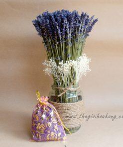 Bình hoa lavender khô