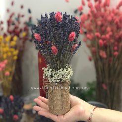 Bình hoa oải hương - lavender L0038
