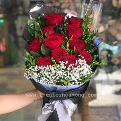 Bó hoa hồng đỏ - Mật ngọt tình yêu