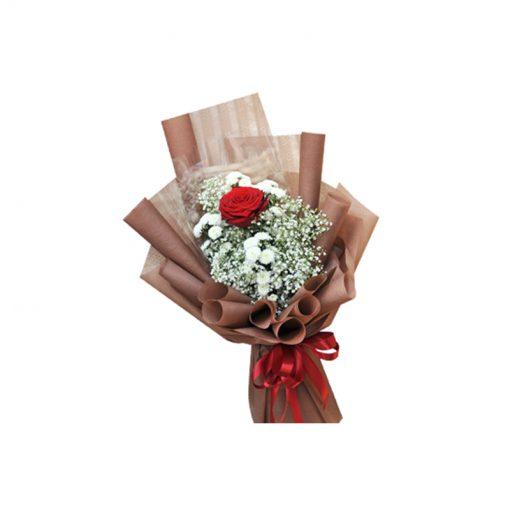 Bó hoa hồng đỏ only love