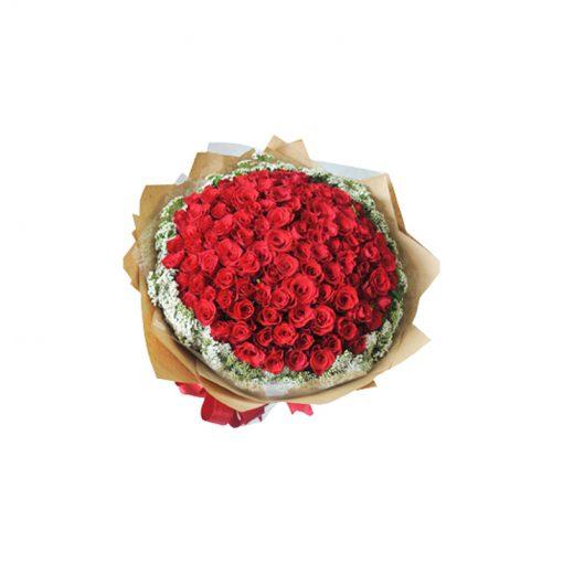 Bó hoa hồng đỏ - Tình Yêu Vĩnh Cửu