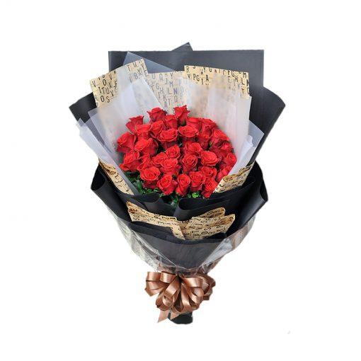 Bó hoa hồng đỏ - Yêu thương