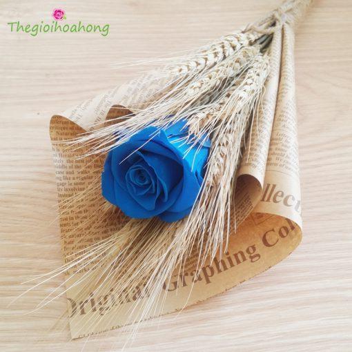 Bó hoa hồng xanh vĩnh cửu Mộc Mạc.