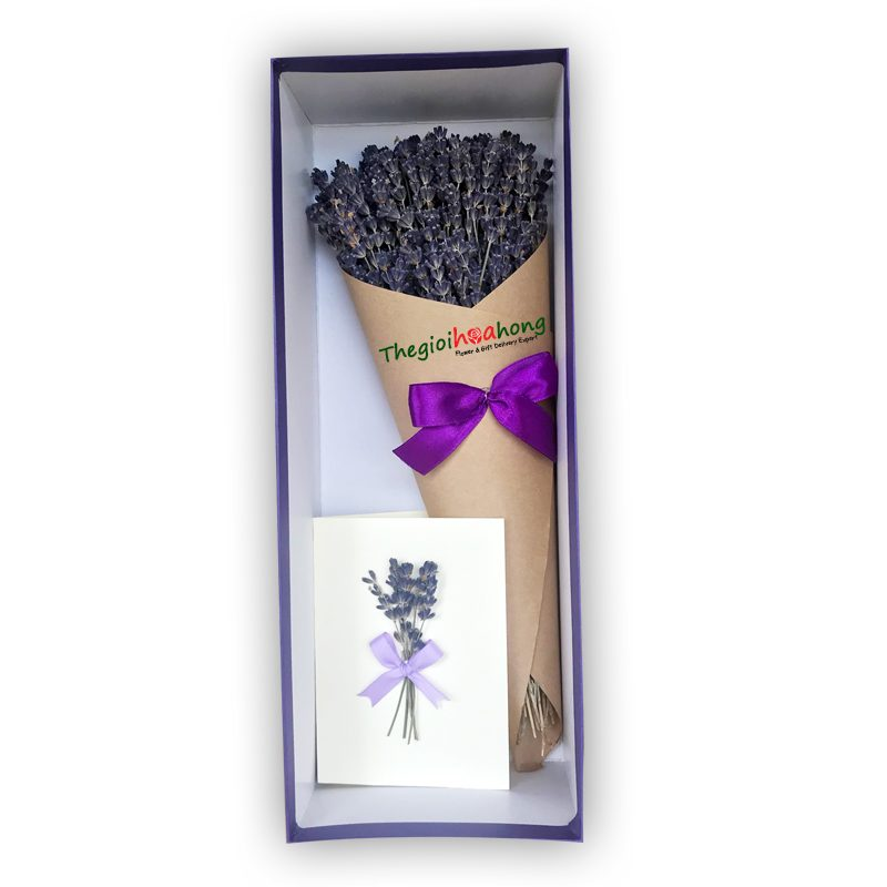 Bó hoa lavender L0043