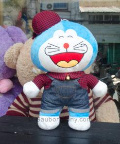 Gấu bông Doremon yếm đội nón