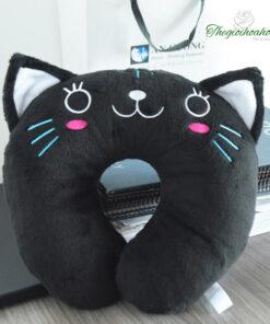 Gối kê cổ Chữ U mèo đen