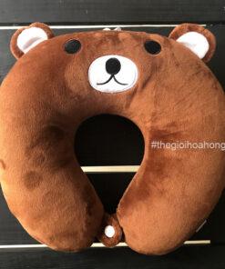 Gối kê cổ Chữ U Gấu Brown