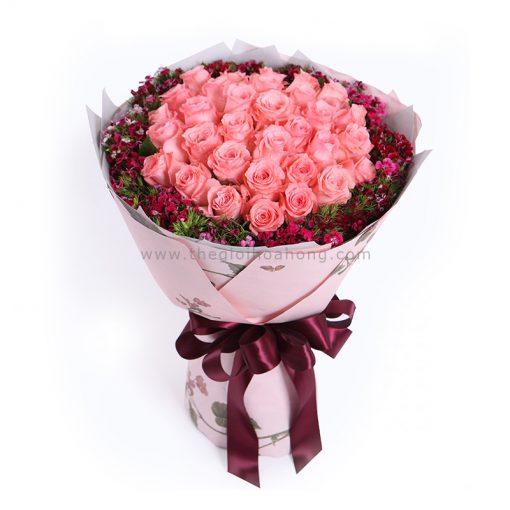 Bó hoa hồng Diana