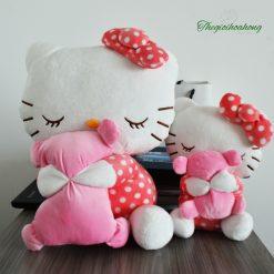 Gấu bông hello kitty ôm gối