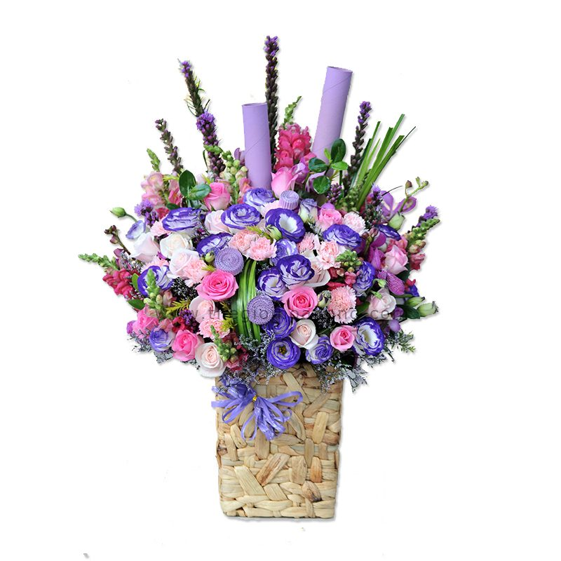 Giỏ hoa tươi êm dịu