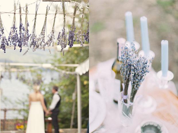 Trang trí đám cưới với hoa Lavender