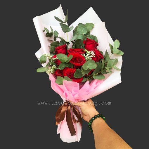 Bó hoa hồng đỏ HT0101
