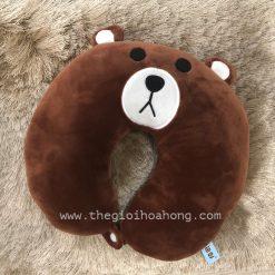 Gối kê cổ gấu brown