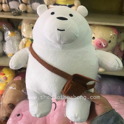 we bare bears gấu trắng đeo cặp