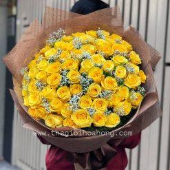 Bó 50 hoa hồng vàng - Màu nắng
