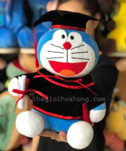 Gấu bông doremon tốt nghiệp