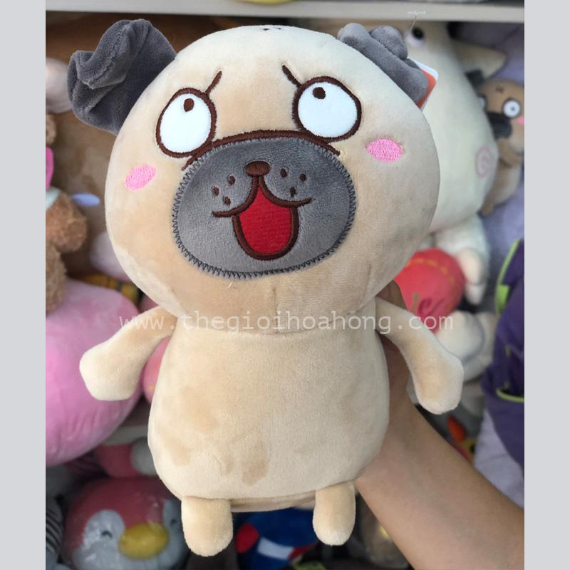Chó pug nhồi bông mặt biểu cảm