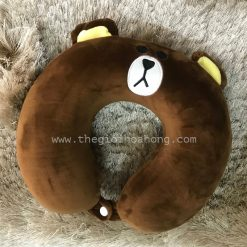 Gối kê cổ cao su non gấu brown