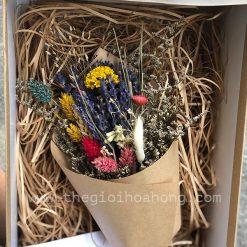 hộp hoa khô hạnh phúc