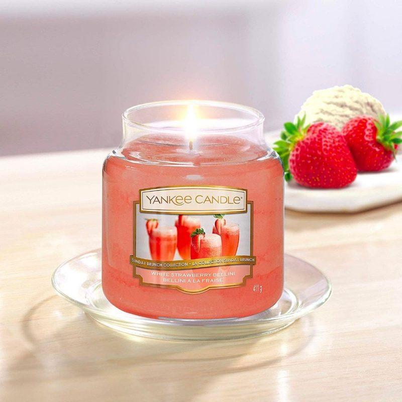 Nến hũ White Strawberry Bellini