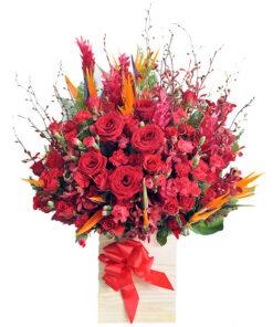 Hộp hoa tươi - Rực Lửa
