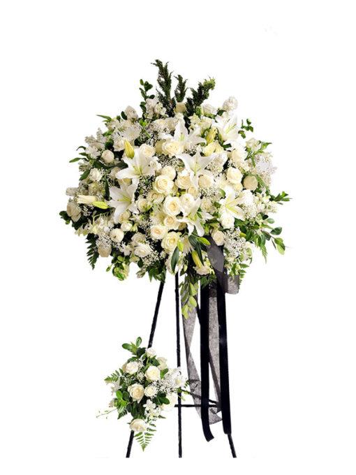 Lẵng hoa tươi chia buồn - Lặng Lẽ