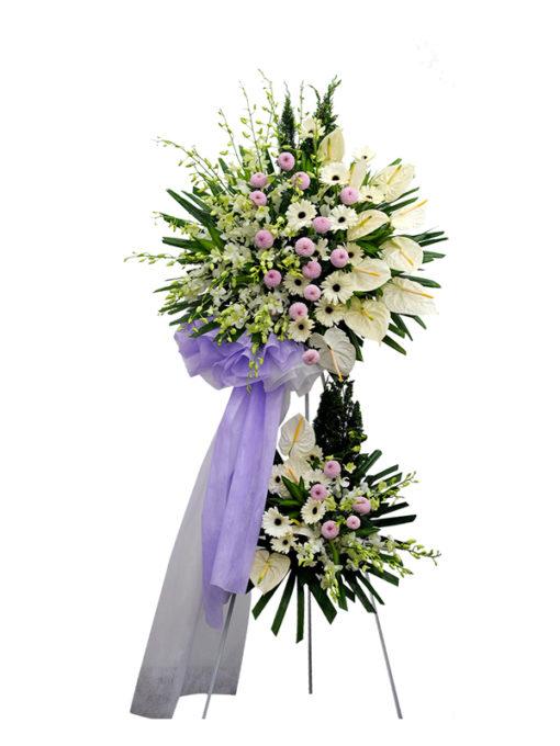 Lẵng hoa tươi chia buồn - Luân Hồi