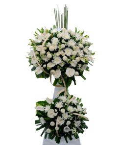 Lẵng hoa tươi chia buồn - Ngàn Thu