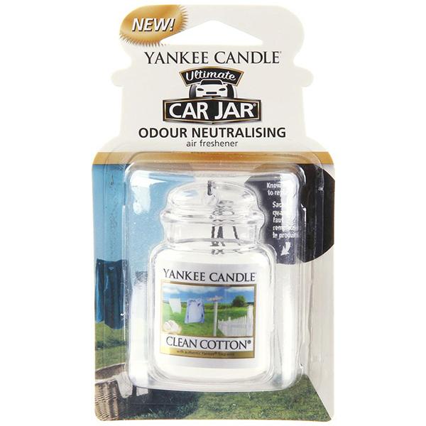Sáp thơm xe ô tô Clean Cotton Yankee Candle