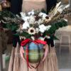 Bình hoa khô Christmas Snow
