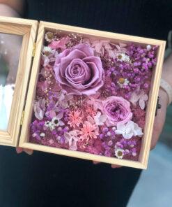 Hộp hoa hồng tím vĩnh cửu - Kẻ Mộng Mơ
