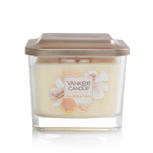 Nến ly Yankee Candle Elevation Rice Milk & Honey