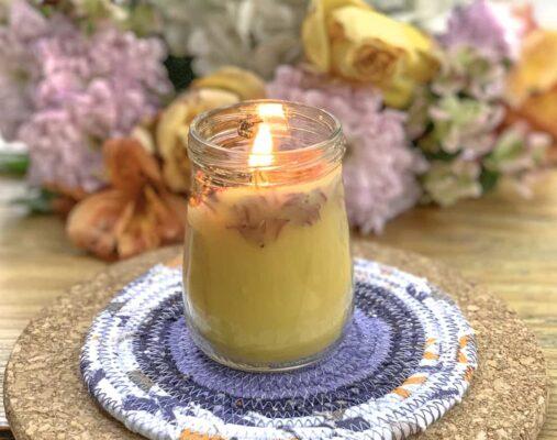 Làm nến thơm sáp ong tuyệt đẹp trong 15 phút